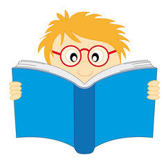 Niño leyendo. De vuelta al colegio