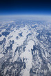 High altitude view of the frozen tundra in Arctic Canada