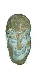 exaggeration face - stone carving works