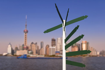Paneaux de direction à Shanghai - China
