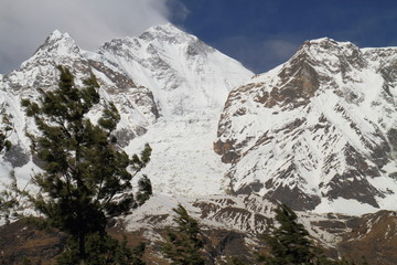 Dhaulagiri Ice Fall and Trees