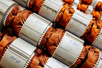 armatures of electric motors with inserted field coil
