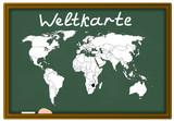 Weltkarte, geographie poster