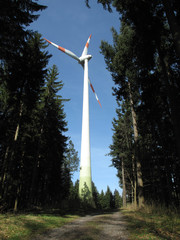 Wind Turbine in Black Forest