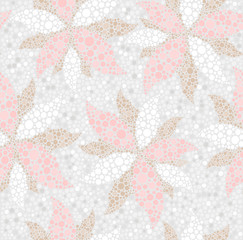 Abstract seamless spring floral pattern