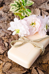 bar of soap with apple flower