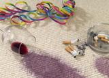 Teppichboden nach einer Party