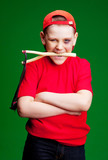 boy with a slingshot