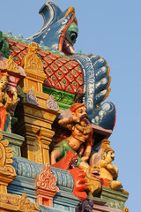 Traditional statues of gods and goddesses in the Hindu temple, s