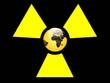 Leinwandbild Motiv atom gelb