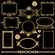 Ornate vintage frame set vector