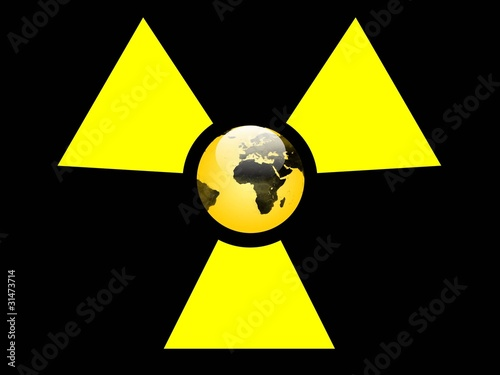 Leinwanddruck Bild atom gelb