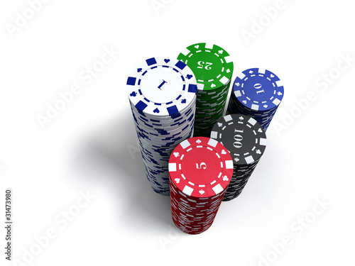 Poker Chips Tower