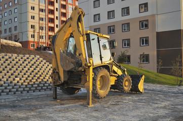 An Excavator Resting