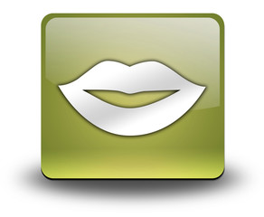 "Yellow 3D Effect Icon ""Mouth / Lips Symbol"""