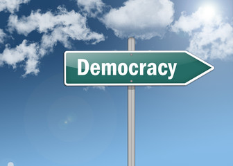 "Signpost ""Democracy"""