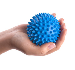 Woman hand with massage ball