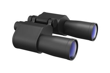 binocular on white background. Isolated 3d image
