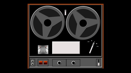 reel-to-reel tape recorder animated graphic