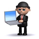 3d Banker goes online poster