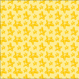 Yellow seafish seamless pattern