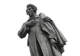 Fototapety Polish poet Adam Mickiewicz statue in Warsaw, Poland