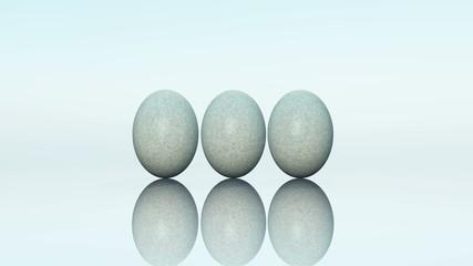 Bunter Eier verwandeln sich in Steineier