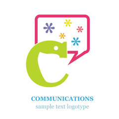 Logo letter C Communications # Vector