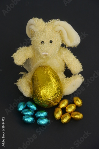 Toy Rabbit with an Easter Egg