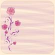 Invitation floral card