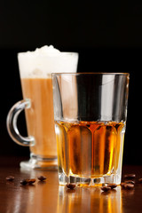 Irish coffee with whiskey