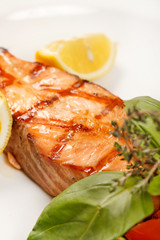 salmon steak