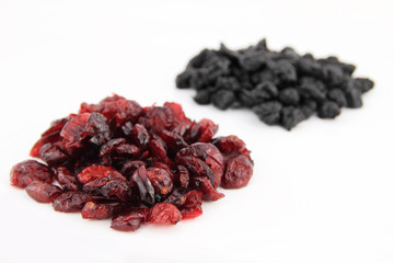 blueberries and cranberries