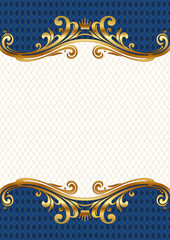Vector ornate golden royal & luxury frame