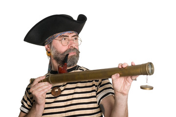 Pirate holding a telescope