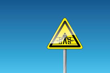 Warnung vor Quetschgefahr