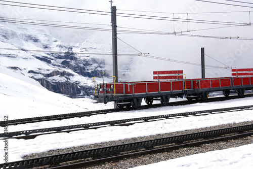 The train that runs from Kleine Scheidegg