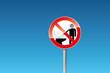 Verbot Gegenstände in die Toilette werden verboten