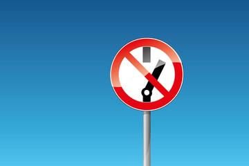 Verbot Schalten verboten