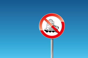 Verbot verboten Inline-Skating Verboten