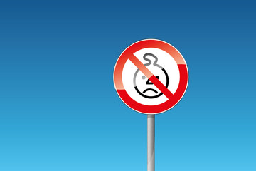Verbot verboten Nicht für Kinder unter drei Jahren geeignet