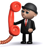 3d Banker answers the big red phone...hello? poster