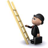 3d Banker climbs that ladder poster
