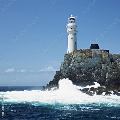 Leinwandbild Motiv lighthouse, Fastnet Rock, County Cork, Ireland
