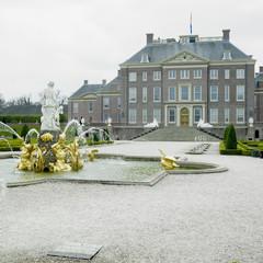 Paleis Het Loo Castle with garden near Apeldoorn,Netherlands