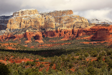 Boynton Red White Rock Canyon Snow Clouds Sedona Arizona