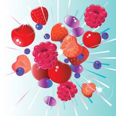 Fresh red fruit bursting with vitamins