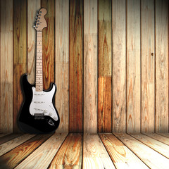 guitare in old room