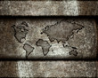 worldmap on a steel background
