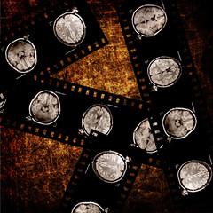 film on grunge background